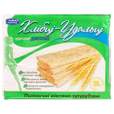 Хлібці-Удальці, 100 г, Хлібці, Пшенично-вівсяно-кукурудзяні