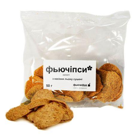 Фьючефуд, 50 г, Фьючіпси, З насінням льону, Золоті