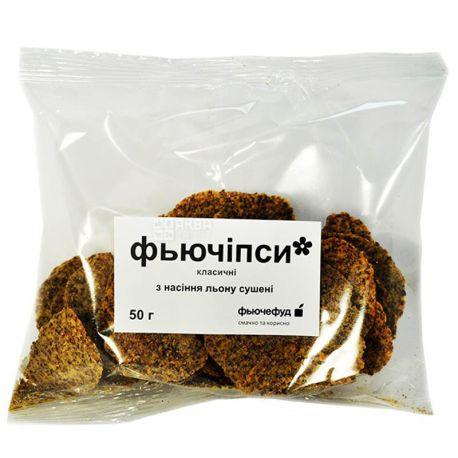 Фьючефуд, 50 г, Фьючипсы, С семенами льна, Классические