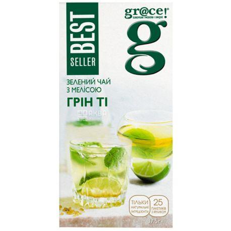 Grace Green tea melisa, 25 пак., Чай зелений з мелісою