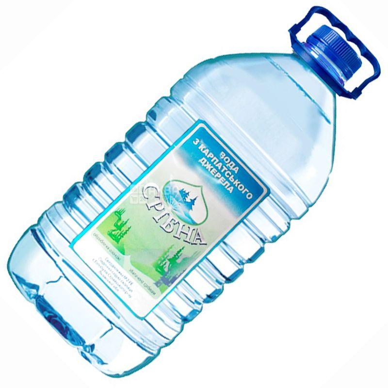 Срібна, 6 л, Вода питна негазована, ПЕТ