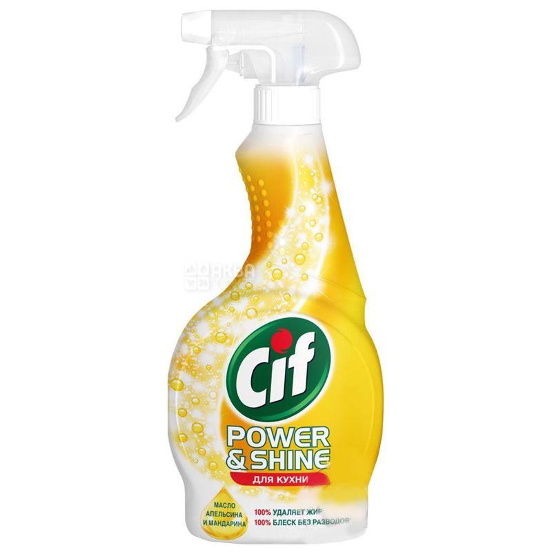 Cif, 500 мл, Спрей для чистки кухни, Анти-жир