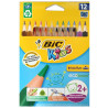 Bic, 12 pcs., Set of colored hexagonal pencils, Evolution HB