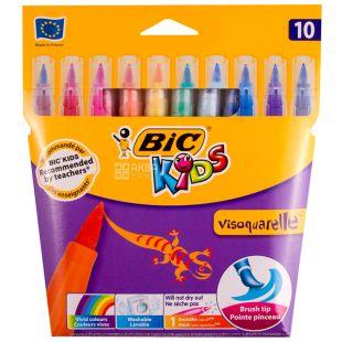 Bic, 10 шт., Фломастери цветные, Visaquarelle