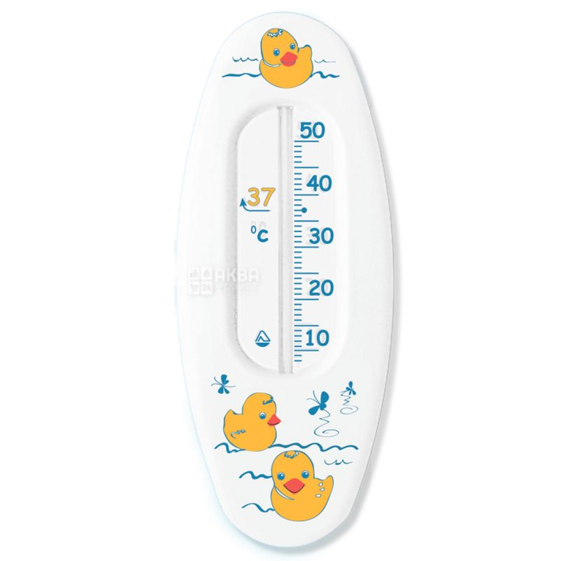 Glass instrument, Thermometer, Household, For water, Souvenir B-1, White