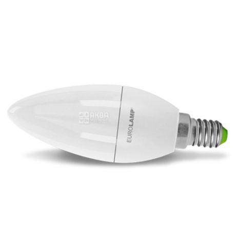 Eurolamp, 8 Вт, E14, Лампа Светодиодная, ЭКО, 4000K (холодный свет), 220 V