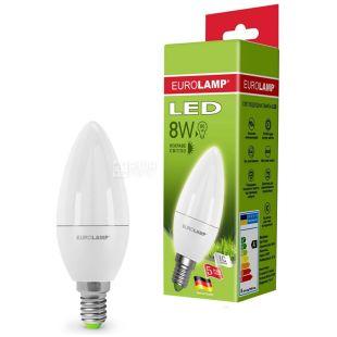 Eurolamp, 8 Вт, E14, Лампа Світлодіодна, ЭКО, 4000K (холодне світло), 220 V