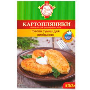 Сто пудов, 300 г, Суміш, Для випічки картопляників