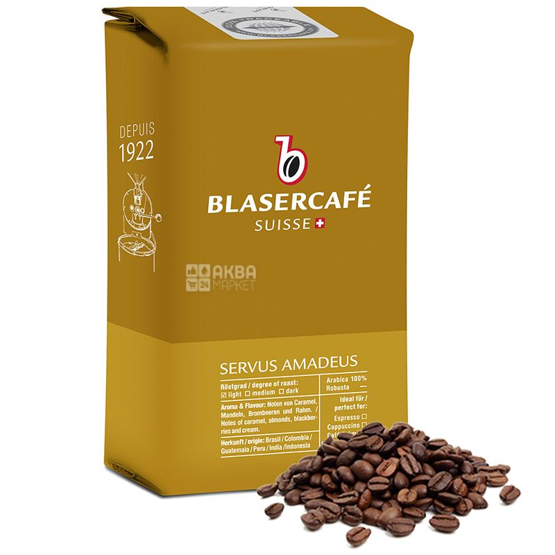 Blaser Cafe, 250 г, зерновой кофе, Servus Amadeus