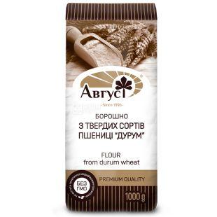 Август, Мука пшеничная, из твердых сортов, 1 кг