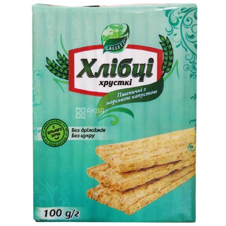 Galetti, 100 г, Хлебцы, Пшеничные с морской капустой