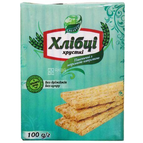 Galetti, 100 г, Хлібці, Пшеничні з морською капустою