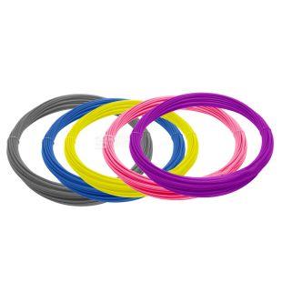 Пластик, Для 3D ручки, Набір 5 кольорів