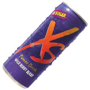 XS, 250 мл, Енергетичний напій, Зі смаком лісових ягід