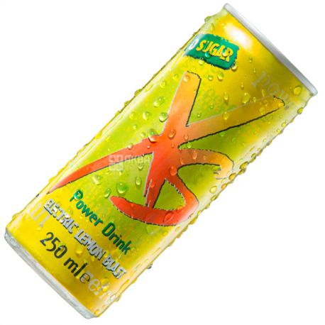 XS Power Drink, Lemon, 0,25 л, Напиток энергетический ИксЭс, Лимон