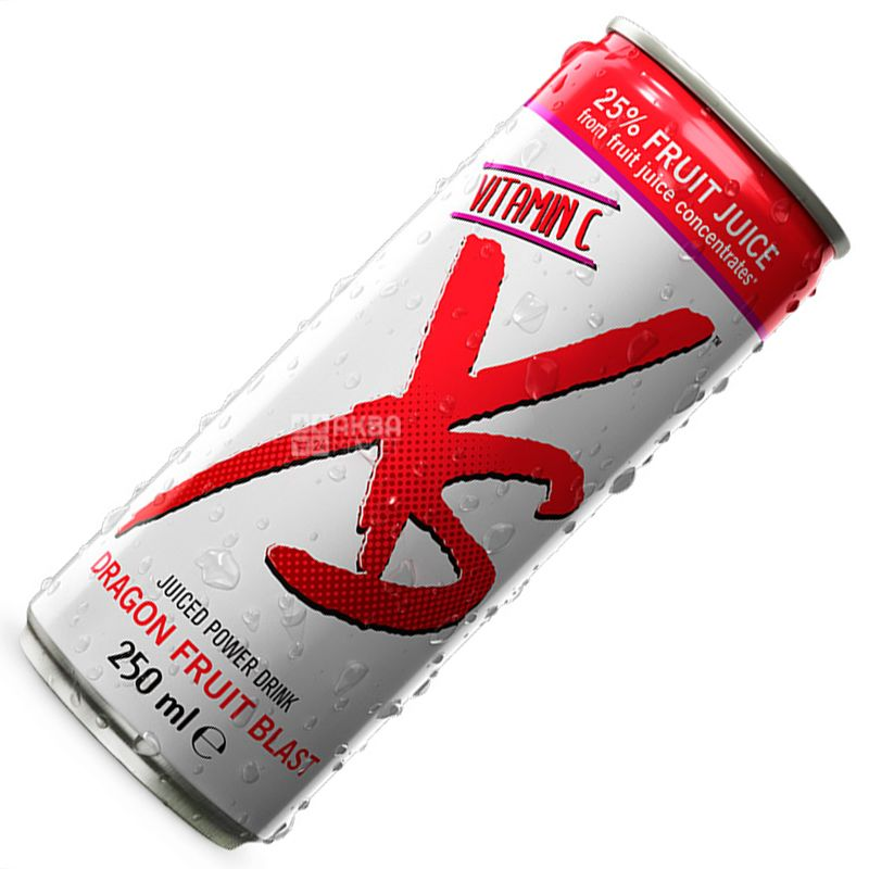 XS Power Drink, Dragon Fruit, 0,25 л, Напиток энергетический ИксЭс Драгон Фрут, Питахайя