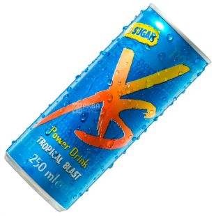 XS Power Drink, Энергетический напиток, со вкусом тропических фруктов, 0,25 л