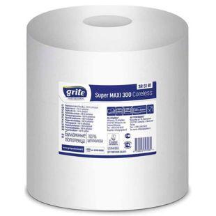 Grite, Super Maxi 300, 1 рул., Полотенца бумажные Грите, Супер макси, однослойные, 952 листа, 300 м