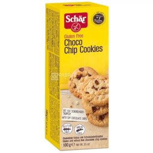 Dr.Schar, 100 g, Dietary Cookies with Chocolate Chunks, Choco Chip