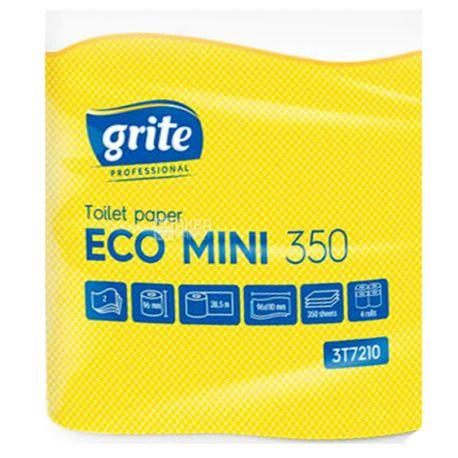 Grite Eco Mini, 4 рул., Туалетная бумага Грите Эко Мини, 2-х слойная