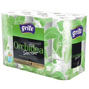 Grite, 24 рулона Туалетний папір, Orchidea season, Тришаровий