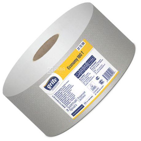 Grite Jumbo Econom 180, 1 рул., Туалетний папір Гріте Джамбо Економ, 1-шаровий