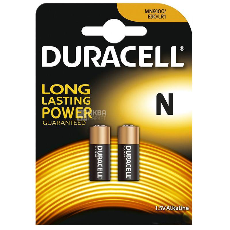 Duracell, 2 шт., Батарейки, N