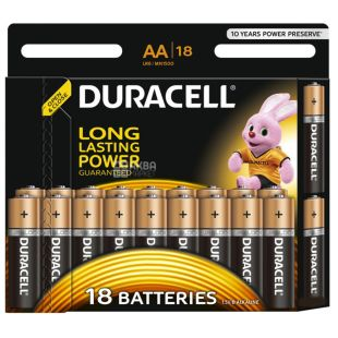 Duracell, AA, 18 pcs., Batteries, Basic