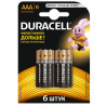 Duracell, Basic, AAА, 6 шт., Батарейки алкалиновые