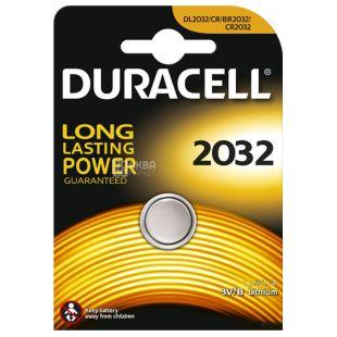 Duracell, 1 шт., Батарейки, Таблетного типу, 2032