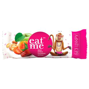 EatMe, 30 g, Bar, Dried apricots, date, apple, raisins
