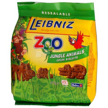 Leibniz, 100 г, Печенье галетное, Зоопарк какао джунгли
