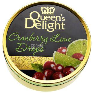 Queen's Delight, 150 г, Льодяники, Зі смаком журавлини і лайма