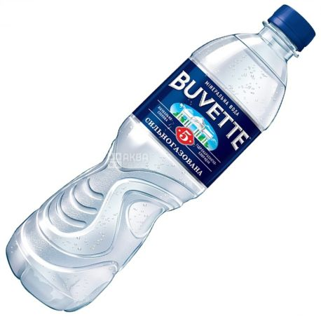 Buvette №5, 0,5 л, Бювет, Вода минеральная сильногазированная, ПЭТ