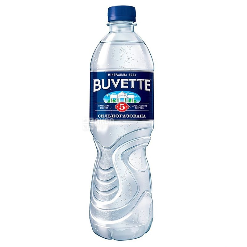 Buvette №5, 0,5 л, Бювет, Вода мінеральна сильногазована, ПЕТ