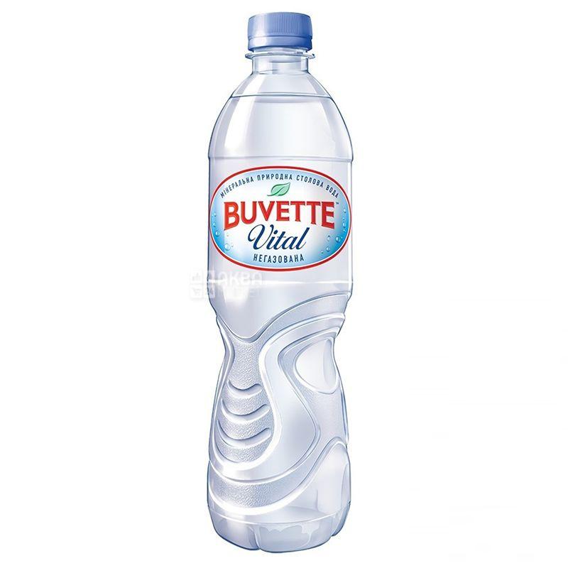 Buvette Vital, 0,5 л, Бювет Витал, Вода минеральная негазированная, ПЭТ