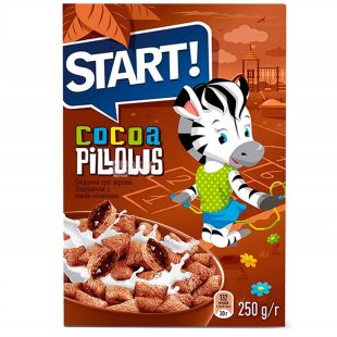 Start, 250 g, Pillows with cocoa filling, m / s