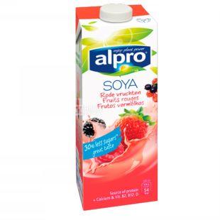 Alpro Fruits rouges, Упаковка 8 шт. по 1л, Молоко соевое фруктовое с кальцием