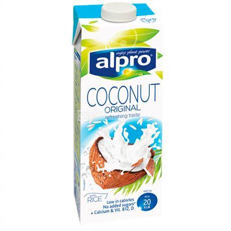 Alpro, Coconut Original, Упаковка 8 шт. по 1 л, Алпро, Кокосове молоко, вітамінізоване