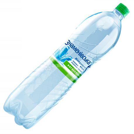 Знаменовская, 1,5 л, Вода минеральная негазированная, ПЭТ