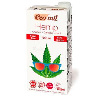 Ecomil, 1 л,  Растительный напиток, Конопля без сахара, Тетра пак