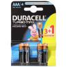 Duracell, 3+1 шт., ААА, Батарейки, Turbo Max