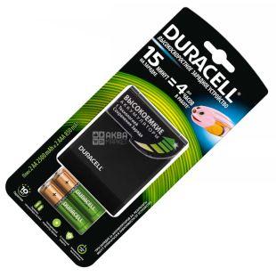 Duracell 2АА + 2ААА, Зарядное устройство + 4 аккумуляторы в комплекте, CEF 27