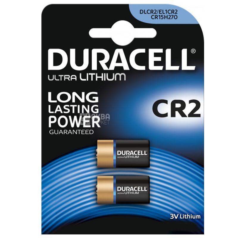 Duracell CR2 Ultra 3V, 2 шт., Літієві батарейки