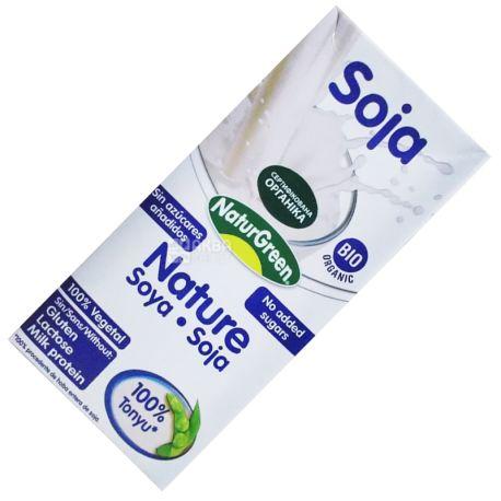 NaturGreen, Soya, 1л, НатурГрин, Напиток растительный из сои, без сахара