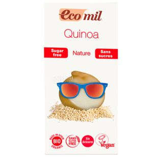 Ecomil, 1 liter, Quinoa Drink with agave syrup, Tetra Pak