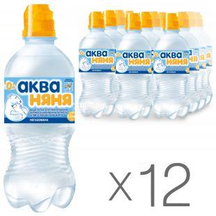 Аква Няня, 0,33 л, Упаковка 12 шт., Вода дитяча негазована, з перших днів життя, ПЕТ, ПЕТ