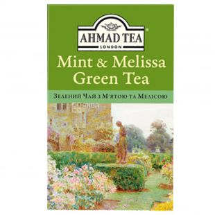 Ahmad Green Tea, 75 г, Чай зеленый Ахмад Грин Ти, Мята и мелиса
