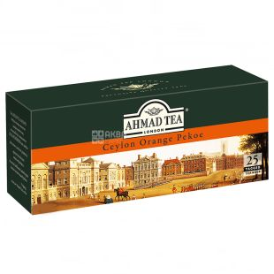 Ahmad, 25 Pieces, Black Tea, Ceylon Orange, Pechoe