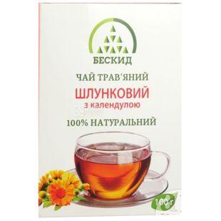 Бескид, Желудочный, 100 г, Чай травяной, с календулой